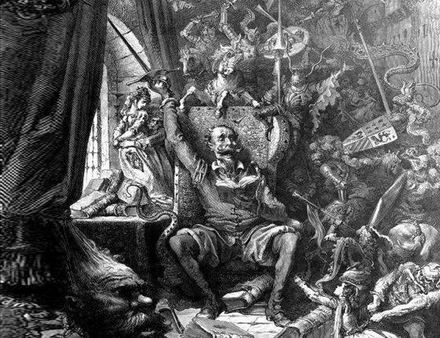 Don Kichote Gustava Dore, nieco zmieniony