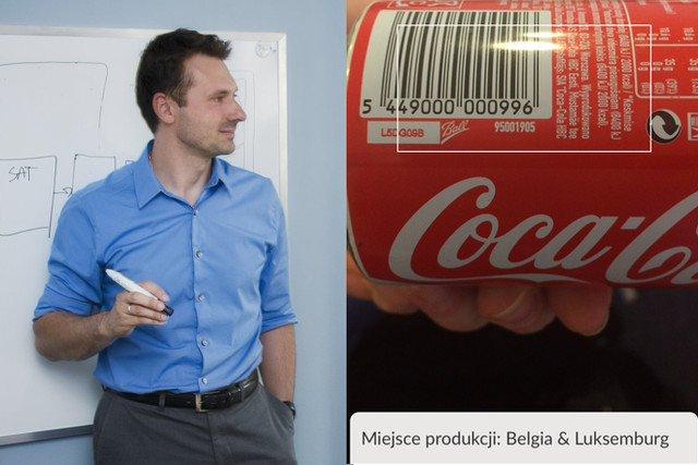Jakub Lipiński, stworzył aplikację na telefon, dzięki której konsumenci łatwo odnajdą korzenie dostępnych w Polsce produktów.  Ta Cola nie pochodzi z zakładu w Radzyminie, przebyła długą drogę na półkę sklepu Społem