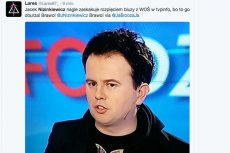 Dziennikarz zaskoczył w TVP Info koszulką z logo WOŚP.