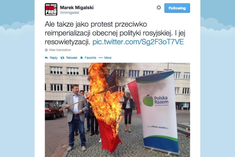Jacek Migalski nie daje o sobie zapomnieć. Europoseł uczcił okrągłą rocznicę Polski w UE.