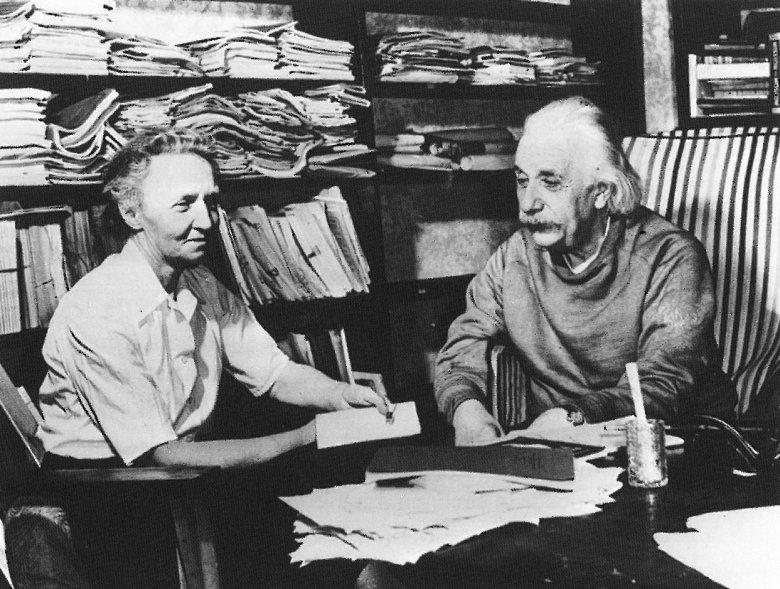 Irène Joliot-Curie i Albert Einstein