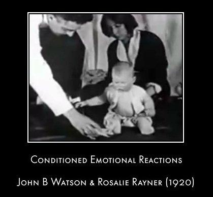 John Watson i Rosalie Rayner podczas warunkowania małego Alberta