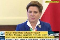 """Premier Szydło twierdzi, że demonstracje organizują """"ci, którzy utracili władzę, przywileje i wpływy""""."""