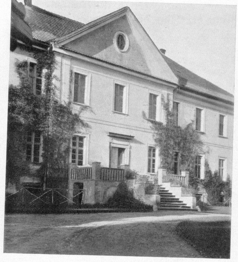 Front pałacu. Zdjęcia archiwalne