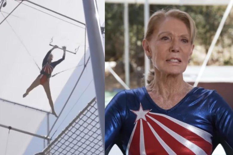 Betty Goedhard ma 85 lat i trafiła do Księgi Rekordów Guinessa jako najstarsza kobieta trenująca latanie na trapezie.