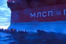 Aktywiści Greenpeace'u chcieli pokojowo protestować na platformie wiertniczej Gazpromu