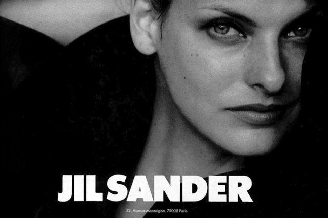 Linda Evangelista w reklamie Jil Sander w Vogue, 1994 rok