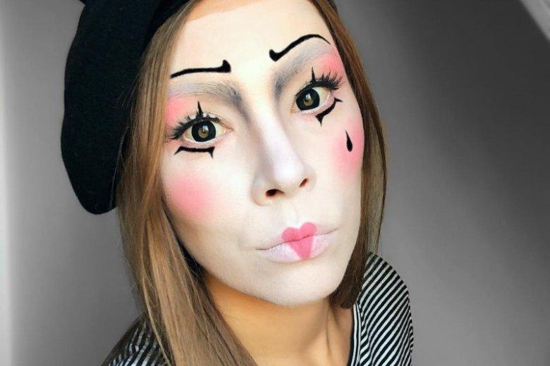 Delikatny i kobiecy makijaż mima
