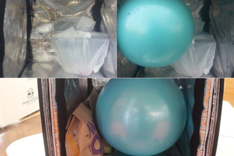 Gumowa piłka to sposób na rozlewające się napoje.