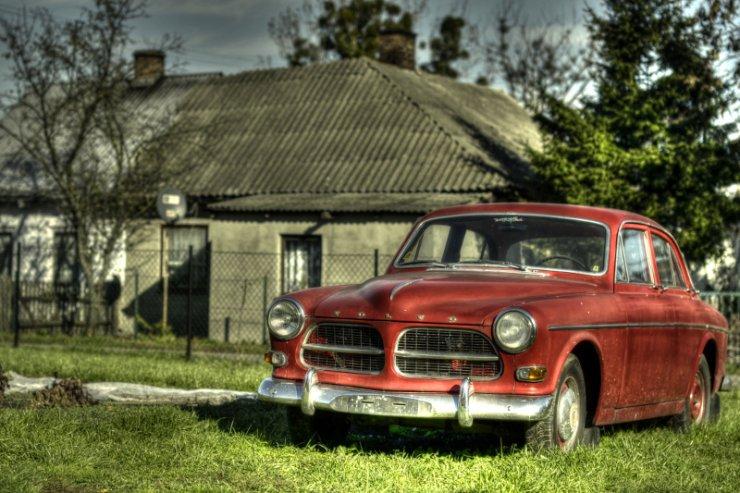 Volvo Amazon - jedno ze znalezionych przez pana Jacka starych aut.