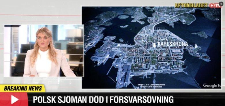 Szwedzkie media informują o wypadku w Karlskronie podczas manewrów wojskowych. Zginął w nim jeden polski marynarz.