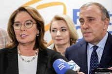 """Jak twierdzi """"Super Express"""", Grzegorz Schetyna chce, by Małgorzata Kidawa-Błońska nadal była kandydatką PO na prezydenta."""