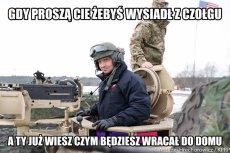 Tylko słynna przejażdżka prezydenta czołgiem była powodem powstania dziesiątek memów.