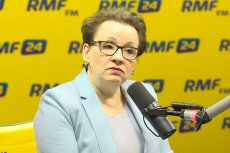 Zalewska jak lew broniła w studiu swojej reformy.