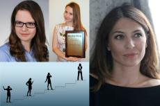 Sukces ma też kobiece oblicze. Od lewej na górze: Kinga Panasiewicz i Joanna Bagniewska. Po prawej: Olga Kozierowska