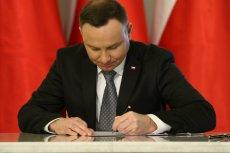 Andrzej Duda skieruje tzw. ustawę o majątku rodzin najważniejszych urzędników państwowych do Trybunału Konstytucyjnego.