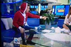 Filip Chajzer był gościem porannego programu w TVN24. Założył na siebie wyjątkową, świątczną bluzę.