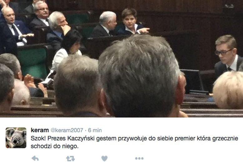 Premier Szydło konsultowała się w Sejmie z prezesem Kaczyńskim.