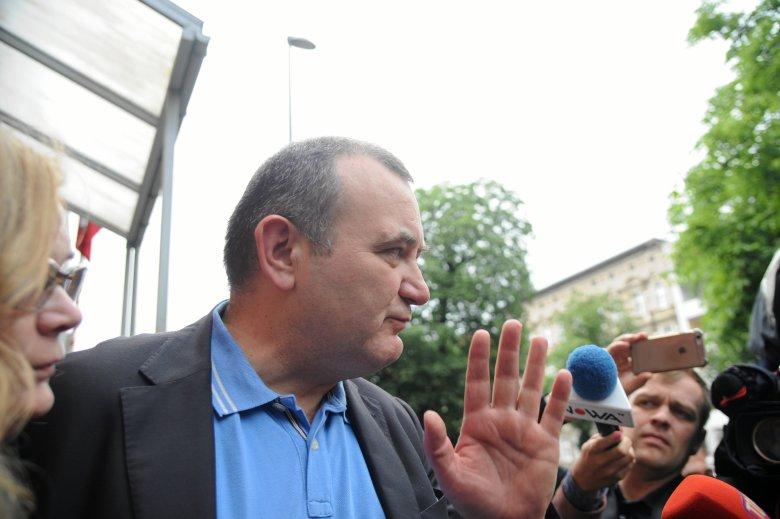 Stanisław Gawłowski po wyjściu z aresztu