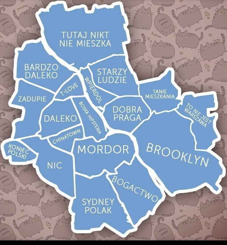 Dobra Praga Sydney Polak Nic Nowa Mapa Warszawy Ktora Stala