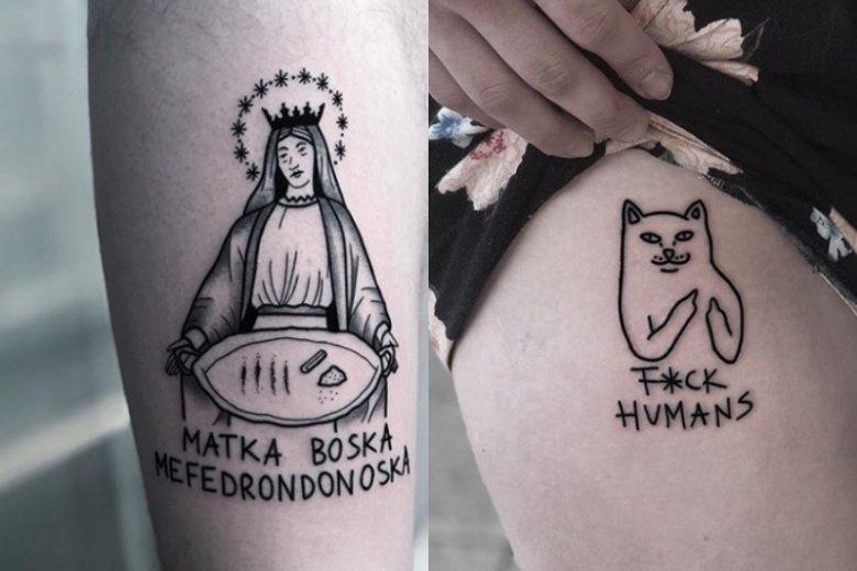 Na takie tatuaże decydują się ludzie, którzy nie boją się szokować i lubią oryginalny styl