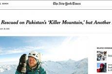 """Kim są himalaiści, którzy ruszyli na pomoc uwięzionym na Nanga Parbat Elisabeth Revol i Tomaszowi Mackiewiczowi? Renomowany amerykański dziennik """"The New York Times"""" postanowił o tym nie wspominać."""