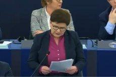Beata Szydło broniła pisowskich zmian w sądownictwie podczas debaty o praworządności w Polsce w Parlamencie Europejskim.
