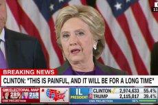 Hillary Clinton po raz pierwszy zabrała głos od czasu ogłoszenia wyników wyborów prezydenckich.
