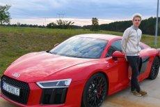 Kruszwil z kolegą nagrali jak jadą ponad 300 km/h Audi R8.