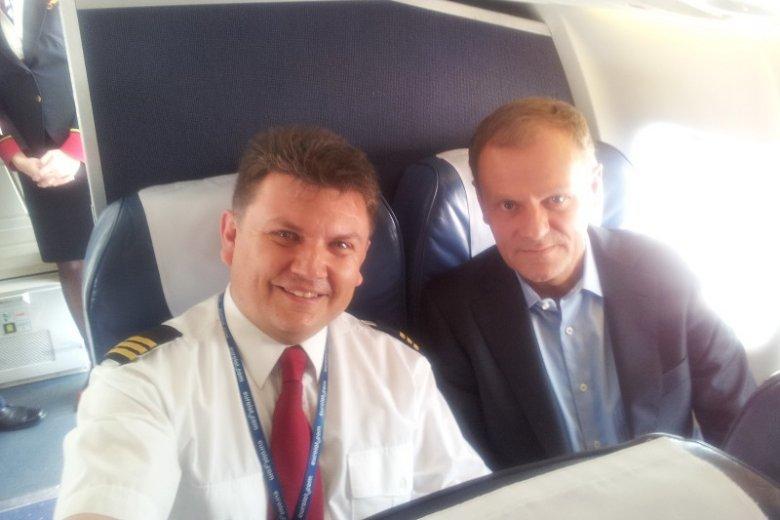 Jacek Balcer miał okazję raz pilotować samolot z Donaldem Tuskiem na pokładzie.