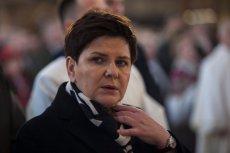 Premier Beata Szydło nie kryje się ze swojąreligijnością.