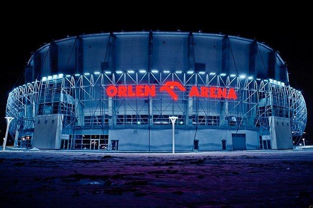 Orlen jest głównym sponsorem hali widowisko-sportowej w Płocku.