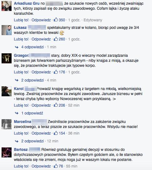 """Reakcja internautów na ofertę pracy """"Krowarzyw"""" tuż po zwolnieniu pracowników."""