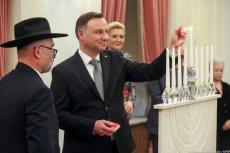 Święto Chanuka w Pałacu Prezydenckim. Andrzej Duda zapalił świecę.