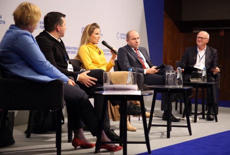 Panel poprowadził prezes zarządu banku Citi Handlowy - Sławomir Sikora.