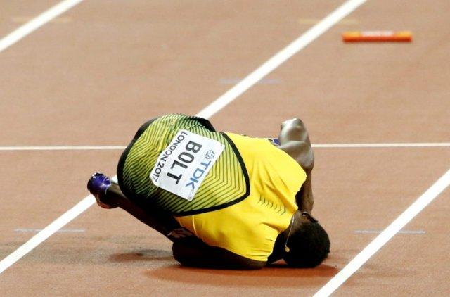 Bolt nie dobiegł do mety w swoim ostatnim występie.