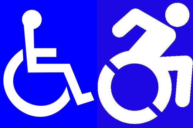 W stanie Nowy Jork stary symbol niepełnosprawności (z lewej) zostanie zastąpiony nowym logo (z prawej)