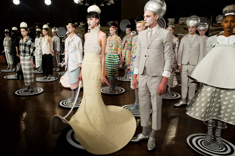 John Minchillo/Associated Press. Thom Browne, spring 2013