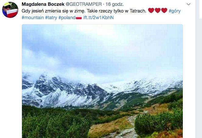 W sierpniu w Tatrach spadł pierwszy śnieg