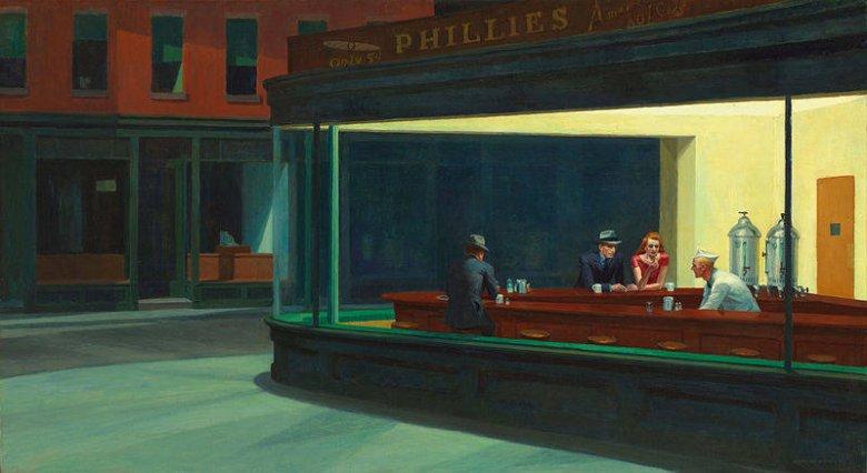 """Nighthawks"" The Art Institute of Chicago"