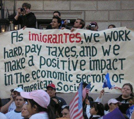Protestujący imigranci w USA