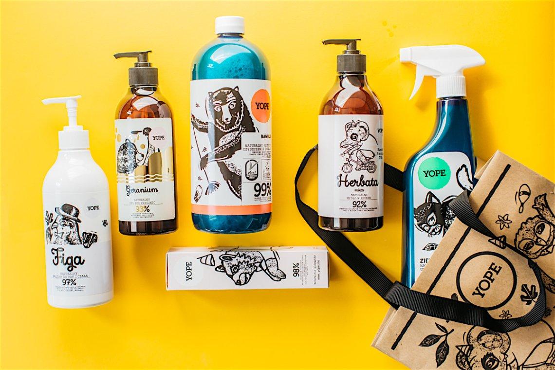 Cała gama produktów marki YOPE