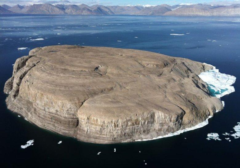 Wyspa Hansa z lotu ptaka.