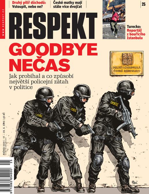Okładka najnowszego numeru czeskiego tygodnika opinii Respekt