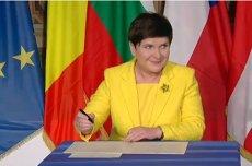 Podpiszę czy też nie podpisze? Beat Szydło pozwoliła sobie na żart, przez chwilę przetrzymała Europę w niepewności.