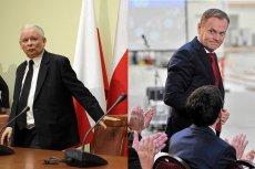 Jarosław Kaczyński wyprzedził Donalda Tuska w sondażu zaufania do polityków.
