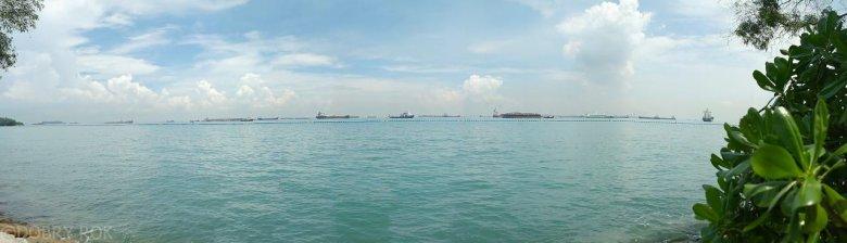 Widok z Santosa Island, Singapur