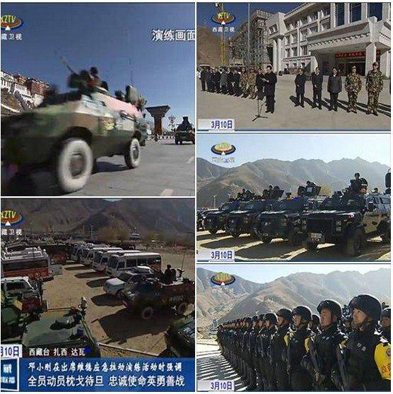 Lhasa, stolica Tybetu, 10 marca 2014 r. (55. rocznica krwawo stłumionego Tybetańskiego Powstania Narodowego)