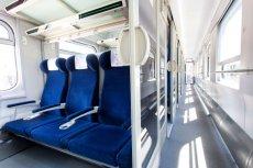Wnętrze zmodernizowanego pociągu.