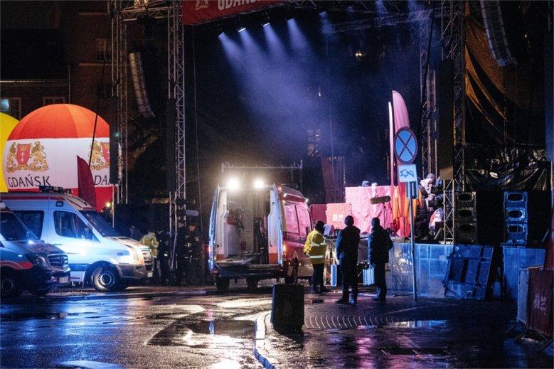 Akcja ratunkowa na scenie WOŚP w Gdańsku została przeprowadzona prawidłowo.